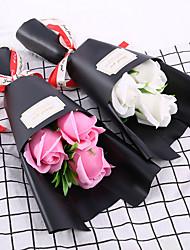 Недорогие -Искусственные цветы Недвижимость сенсорный Свадебные цветы Букет Букеты на стол Букет 3
