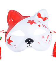 cheap -Japanese Fox Half Mask with Tassels and Small Bells Cosplay Mask for Masquerades Festival Costume Party Show