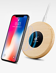 cheap -D8 Wireless Charger fast charger USB charger Universal Charger kit QI wirelss charger QC 2.0 wooden Charger for iphone/ Samsung/Huawei/Xiaomi