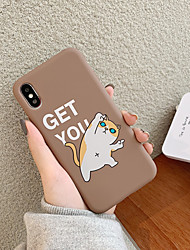 cheap -Case For Apple iPhone XS / iPhone XR / iPhone XS Max Ultra-thin / Pattern Back Cover Animal TPU
