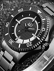 cheap -ASJ Men's Dress Watch Quartz Formal Style Stainless Steel Black 30 m Calendar / date / day Analog New Arrival Fashion - Black Red One Year Battery Life
