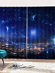 cheap -Blink Star Print Curtains Strong Fastness Thick Waterproof Polyester Bath Curtain Heat / Sound Insulation Blackout Curtains Fabric for Dedroom / Living Room