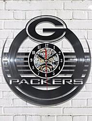 abordables -Wandklok emballeurs vinyle horloge murale gravé au laser vinyle lp record silhouette art décor à la maison horloge classique