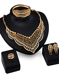 cheap -Women's Cubic Zirconia Bridal Jewelry Sets Beaded Vintage Style Sweet Heart Grang Palace Stylish Earrings Jewelry Gold For Wedding Party 1 set