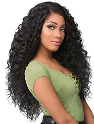 cheap -Synthetic Wig Afro Curly Layered Haircut Wig Very Long Natural Black Synthetic Hair 62~65 inch Women's New Arrival Black