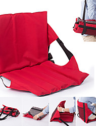 cheap -Camping Chair Camping Seat Mat Portable Foldable Lightweight Travel Oxford cloth for 1 person Camping / Hiking Fishing Beach Camping Autumn / Fall Winter Black Fuchsia