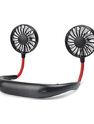 abordables -1pcs ventilateurs portables ventilateurs à la nuque sans main avec usb 1200ma rechargeable fonctionnant sur batterie double vent tête 3 vitesse ventilateur réglable