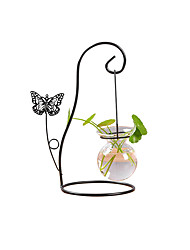 cheap -Fashion Creative Butterfly Single Bottle Water Planting Glass Vase Home Office Desktop Decoration