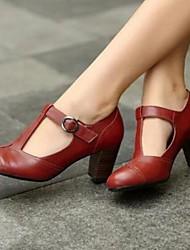 cheap -Women's Heels Chunky Heel PU Spring Black / Brown / Yellow / Daily