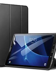Недорогие -Кейс для Назначение SSamsung Galaxy Tab A 10.1 (2016) Защита от удара / Защита от пыли / Авто Режим сна / Пробуждение Чехол Однотонный Твердый Кожа PU / ТПУ