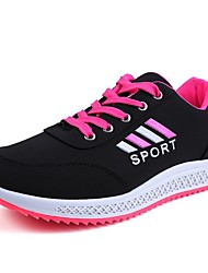 cheap -Women's Athletic Shoes Flat Heel PU Running Shoes Spring Black / White / Black / Red / Gray