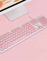 Недорогие -Litbest панк-стиль USB проводная офисная клавиатура водонепроницаемый 104 шт. ключ для настольного ноутбука