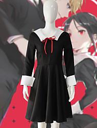 cheap -Inspired by Kaguya-sama: Love is War Cosplay Anime Cosplay Costumes Japanese Dresses Dress / Socks / Headwear For Women's
