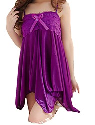 cheap -Women's Lace / Backless Sexy Babydoll & Slips / Garters & Suspenders / Suits Nightwear Solid Colored Black White Purple One-Size / Strap / Deep V