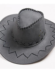 cheap -Westworld West Cowboy Cowboy Costumes Adults' Men's Hat Casual Christmas Halloween Carnival Festival / Holiday Leather Yellow / Coffee / Brown Carnival Costumes Solid Colored