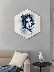 cheap -Framed Art Print Framed Canvas Prints - People PS Illustration Wall Art