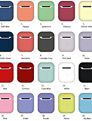 cheap -Protective Cover Case Simple Style Apple Airpods Shockproof Silicon Rubber