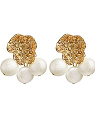 cheap -Women's Drop Earrings Beads Flower Tropical Romantic Imitation Pearl Earrings Jewelry Gold For Gift Festival 1 Pair