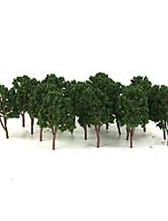 cheap -20pcs Miniature Tree Models Train Scenery Railroad Supplies Dard Green 7.5cm