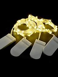 Недорогие -2шт свадебные украшения сказочные огни с батарейным питанием 1м / 2м / 3м / 5м 50leds