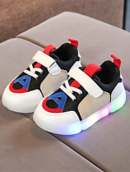 cheap -Girls' LED / LED Shoes PU Sneakers Toddler(9m-4ys) / Little Kids(4-7ys) Walking Shoes LED Black / White / White / Blue / White / Green Spring / Summer / Rubber