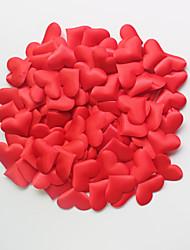 cheap -100Pcs/Set Large Romantic Simulate Love Heart Petals Wedding Decoration Appliques Decor Marriage Supply