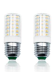 cheap -2Pack 7W LED Corn Lights 100-265V 900LM E27 66LEDs Lamp SMD5730 White/Warm White