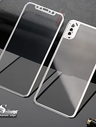 cheap -3D Curved Edge FrontBack Tempered Glass Full Screen Protection Replacement Case Titanium Alloy Cover iPhone XS MAX/XR/XS/X/7/7S/8/8S Plus