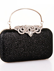 cheap -Women's Sequin / Pearls PU Evening Bag Solid Color Black / Gold / Silver / Fall & Winter