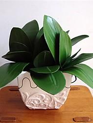 abordables -1 branche faux papillon orchidée feuille simulation herbe décoration de la maison verte