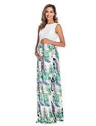 cheap -Women's Midi Maternity White Black Dress Shift S M