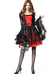 abordables -Mariée fantomatique Costume Femme Effrayant Halloween Utilisation Costumes de cosplay Le thème de la fête Les costumes Femme Costumes de Danse Térylène Dentelle