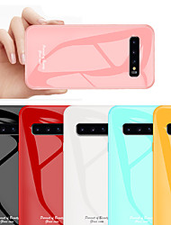 cheap -Tempered Glass Phone Case for Samsung Galaxy S10 Plus / S10 / S10 5G / S10 E Protective Mobile Phone Cover Cases for S9 Plus / S9