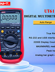 cheap -UNI-T Digital Multimeter UT61E True RMS Auto Range 22000 Count PC Connect AC DC Voltage Meter Data Hold 9V Rechargeable Battery