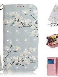 abordables -cas pour google pixel 3a xl / portefeuille google pixel 3a / porte-cartes / étuis complets antichoc cuir magnolia flower