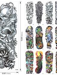 cheap -20 pcs Tattoo Designs Temporary Tattoos Tattoo Designs For Men Full Arm Cool Tattoo Designs Water Resistant Dragon Tattoo Design QB3001-3020