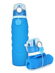 Недорогие -Бутылки для воды Складная бутылка для воды 1000 ml PP силикагель Портативные Складной Креатив для Отдых и Туризм Пешеходный туризм Походы / туризм / спелеология 500 pcs