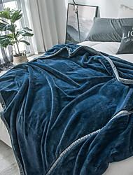Недорогие -Многофункциональные одеяла, Однотонный Фланель Флис Мягкость одеяла