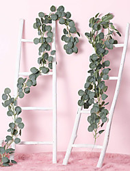 Недорогие -Yiwu pho_0a1e имитационное растение эвкалипта круглый лист эвкалипта лист ротанга свадьба фон отделка стен лист эвкалипта