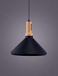 cheap -1-Light 40 cm Pendant Light Metal Cone Industrial Painted Finishes Retro 110-120V 220-240V