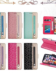 cheap -Case For Apple iPhone XS / iPhone XR / iPhone XS Max Wallet / Card Holder / Shockproof Full Body Cases Lines / Waves Hard PU Leather