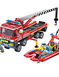 cheap -Building Blocks 1 pcs compatible Legoing Hand-made Parent-Child Interaction Police car Helicopter All Toy Gift