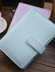 cheap -2pcs Macaron A6 Spiral Leather Notebook Stationery For Office School Personal Agenda Organizer Diary Planner Gift Mint Blue