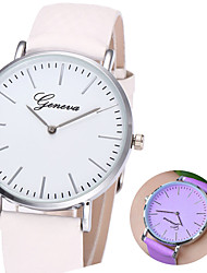 cheap -Women's Dress Watch Temperature change  Quartz Rose Gold / Purple / Brown Casual Watch Analog Casual - Rose Gold Purple Black