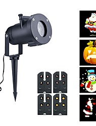 cheap -4 Pattern Outdoor Waterproof LED Christmas Snowflake Projector Lamp Spotlight Halloween Projector Lights