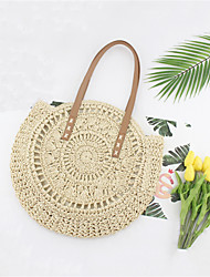 cheap -Women's Bags Straw Tote Straw Bag Bohemian Style Solid Color Straw Bag Daily Holiday Brown Beige