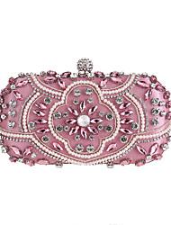 cheap -Women's Glitter / Crystals Alloy Evening Bag Geometric Pattern Black / Almond / Blushing Pink
