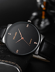 cheap -Men's Dress Watch Quartz Formal Style Stylish Leather Black 30 m Water Resistant / Waterproof Casual Watch Cool Analog Casual Fashion - Black Rose Gold Gold One Year Battery Life
