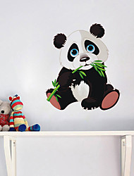 cheap -Cute panda gnawing bamboo wall sticker children's room kindergarten living room bedroom removable wallpaper sticker