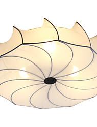 cheap -3-Light 50 cm New Design / Lovely Flush Mount Lights Metal Fabric Lantern / Novelty Chrome Artistic / Modern 110-120V / 220-240V